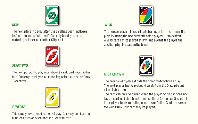 how to play uno images