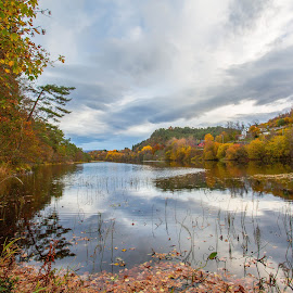 Grimseidvatnet by Espen Rune Grimseid - Landscapes Waterscapes ( bergen, grimseidvatnet, nature, autumn, fall, reflections, lake, landscape, norway )