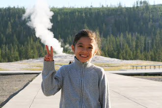 Photo: I've been here before with my family, but I didn't remember that steam was always flowing from Old Faithful.