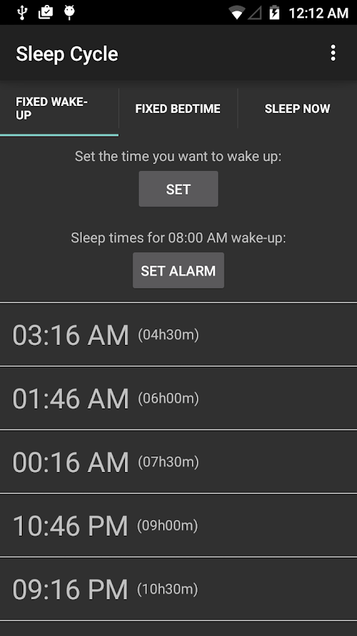 Sleep Cycle- screenshot