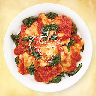 Cheese & Spinach Ravioli Diavolo.