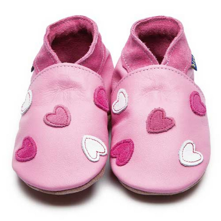 Inch Blue Soft Sole Leather Shoes - Cariad Baby Pink (0-6 months) by Berry Wonderful