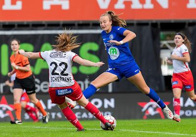 """18-jarige Nederlandse Lobke Loonen met drie goals in vier matchen meteen gelanceerd bij KAA Gent Ladies: """"Direct spel is een van onze doelen"""""""