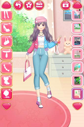 Anime Girls Fashion - Makeup & Dress up apktram screenshots 3