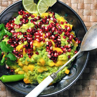 Superfood Guacamole With Pomegranate Seeds