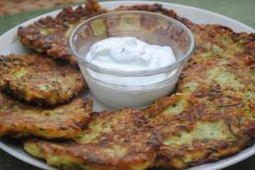 Greek Style Zucchini Fritters with Feta