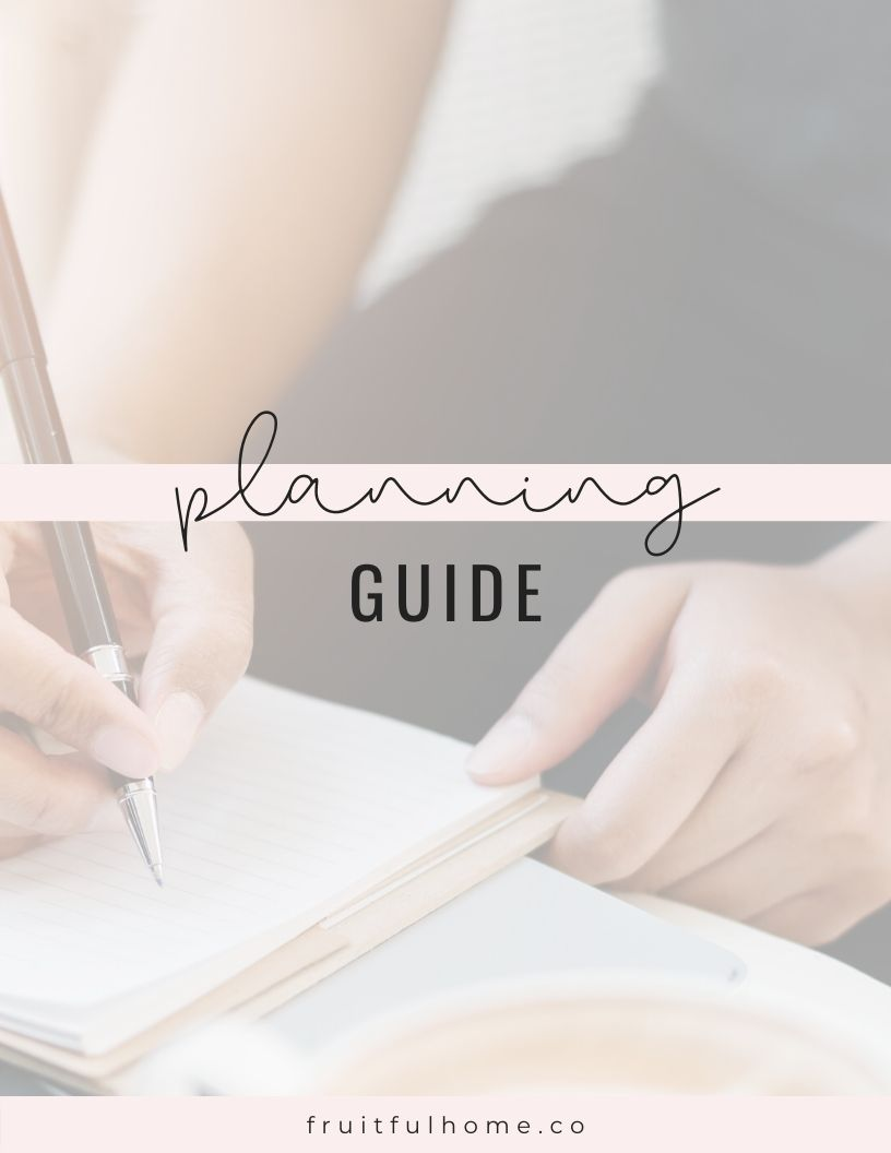 Free printable planning guide