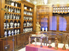 Photo: Here, some of the 200 apothecary jars in the 18th century dispensary of the St. Nicholas Hospital.