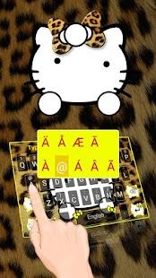 Cute Leopard Kitty Keyboard - náhled