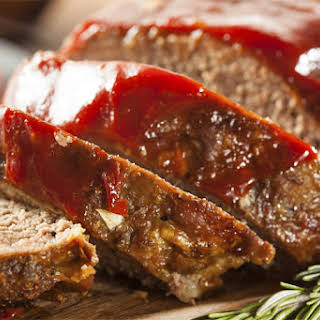 Curried Turkey Meatloaf With Tomato-Maple Glaze.