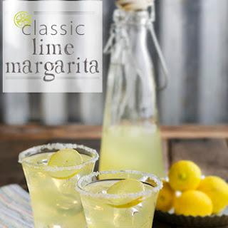 Classic Lime Margarita.