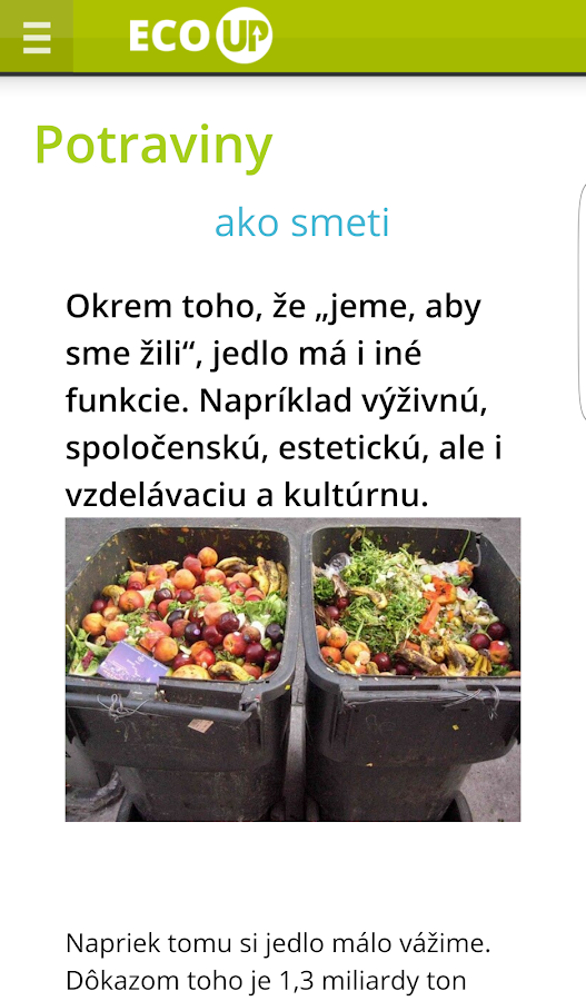 Strom života - ECO UP- screenshot