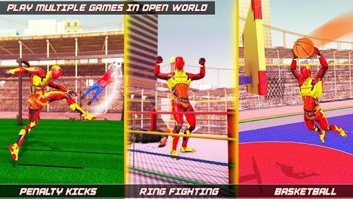 Flying Robot Rope Hero - Vegas Crime City Gangster screenshots 18