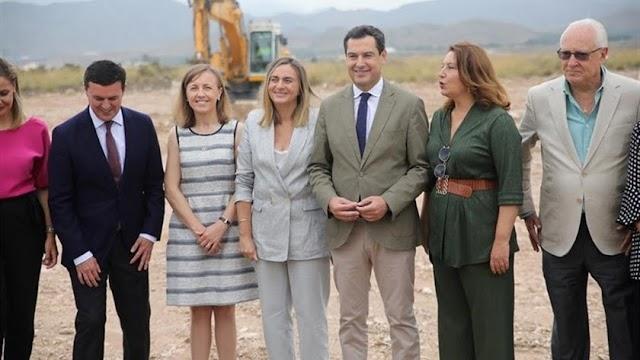 Moreno Bonilla durant esu visita a la Autovía del Almanzora el pasado septiembre.