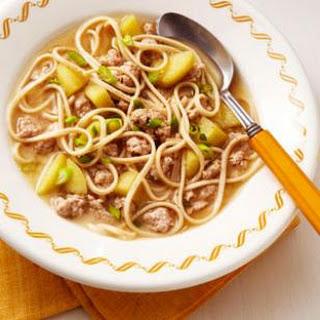 Pork, Apple & Miso Noodle Soup.