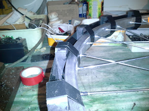 Photo: Glue one side of the wheel first ... then let it sit for day then do the other side.