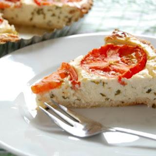 Tomato, Basil Pie with Parmesan Rosemary Crust.