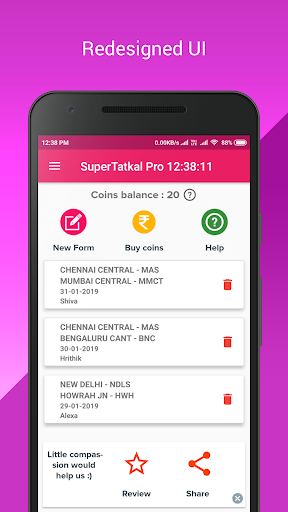 SuperTatkal - IRCTC Tatkal Train Ticket  screenshots 1