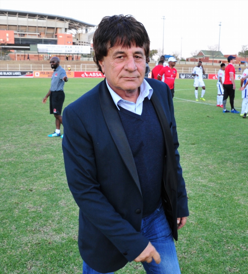 Chippa United chief executive Peter Koutroulis, pictured here in Polokwane during the Absa Premiership encounter away against Polokwane City at the Old Peter Mokaba Stadium in May 2018, is reportedly on his way out of the club.
