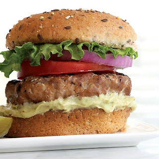 Turkey Burger with Spicy Avocado Aioli