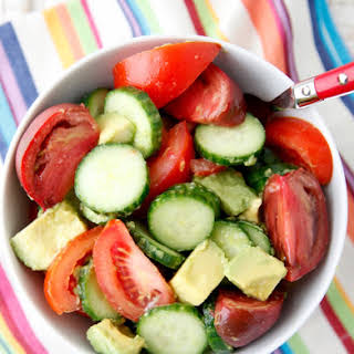 Avocado Cucumber Tomato Salad.