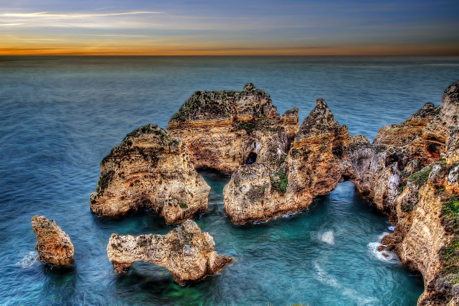 Lagos, Portugal by Khaled Ibrahim - Landscapes Caves & Formations