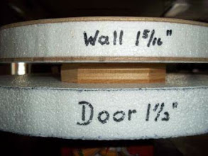 Photo: Reminder of door and wall thickness