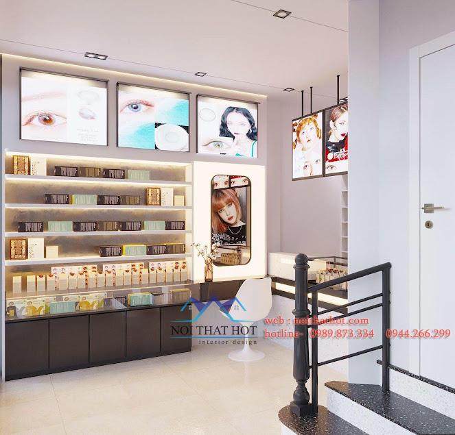 thiết kế cửa hàng kính áp tròng