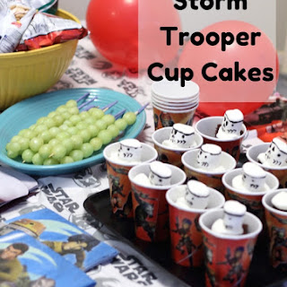 Storm Trooper Cup Cakes {Star Wars Rebel Party}