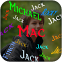 My Name animation screen LWP icon