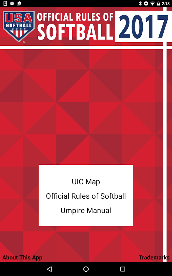 USA Softball Official Rules- screenshot
