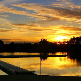Bolko by Marta Bednarska - Landscapes Waterscapes ( lake sunset )