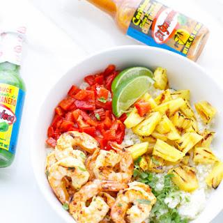 Caribbean Spicy Shrimp And Cauliflower Rice.