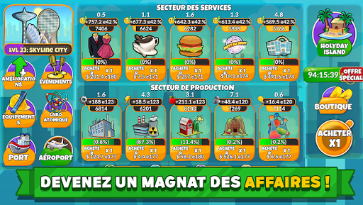 Holyday City Tycoon: Idle Resource Management  captures d'écran 1