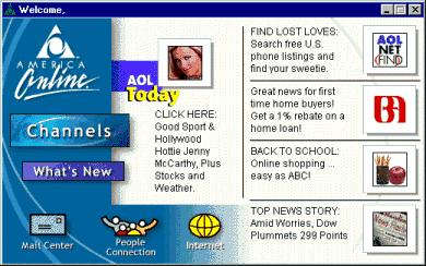 AOL Welcome page 1999