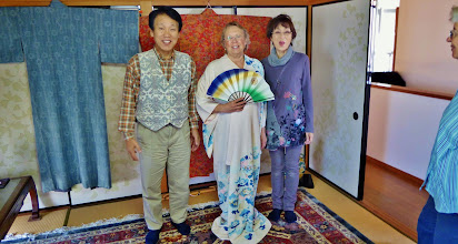 Photo: Best fashion (as a guest for tea at the home of a local couple in Kamakura)