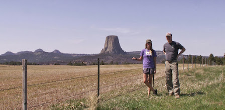 Photo: My daughter Amy and I arrived at Devils Tower on the afternoon of Saturday May 11.  We trained on Sunday, and climbed to the top on Monday. Devil's Tower is located in the northeastern corner of Wyoming, a 500-mile drive from Helena, MT (via Billings and Broadus).