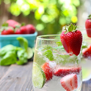 Strawberry Basil Lime Coolers.