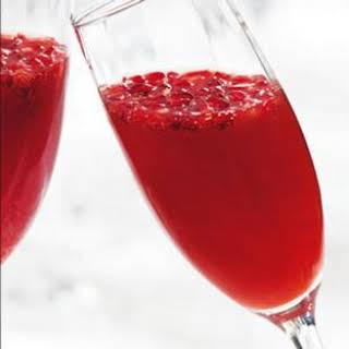 Blood Orange-Pomegranate Mimosas.