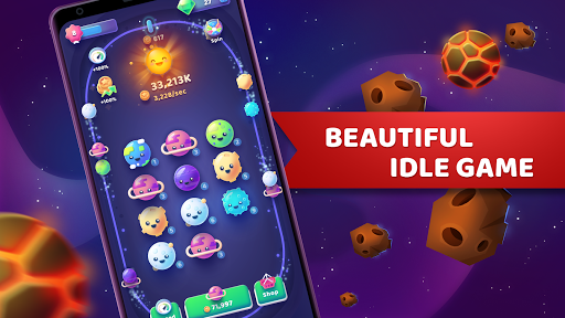 Code Triche Moonies - Merge Planets And Master The Idle Galaxy APK MOD screenshots 4