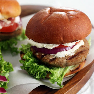 Whipped Feta Turkey Burgers Recipe