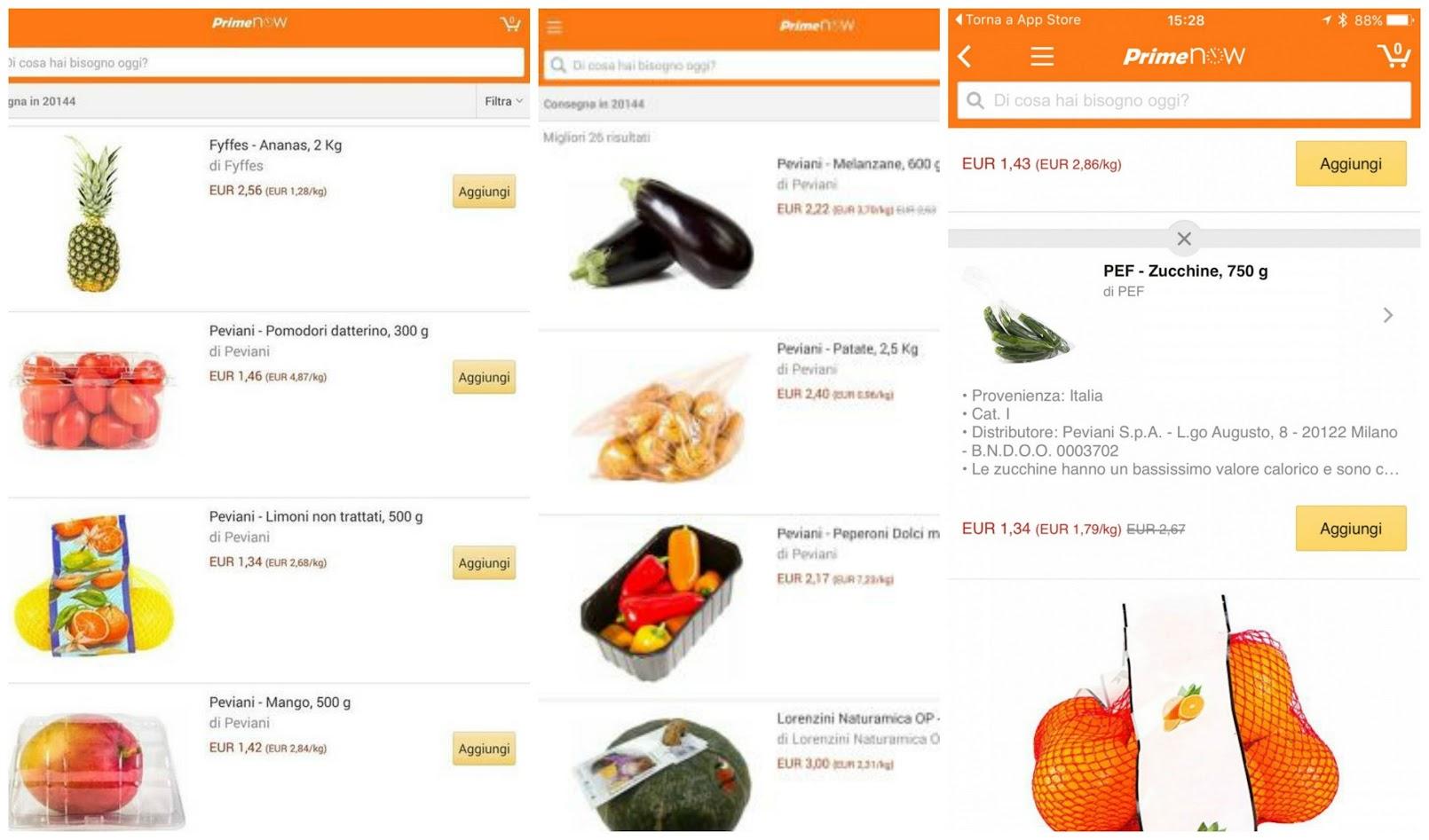 Amazon frutta e verdura si comprano online for Frutta online