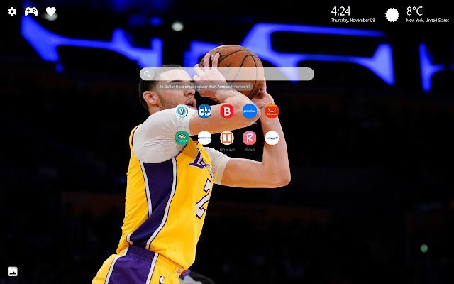 Lonzo Ball Lakers Theme New Tab