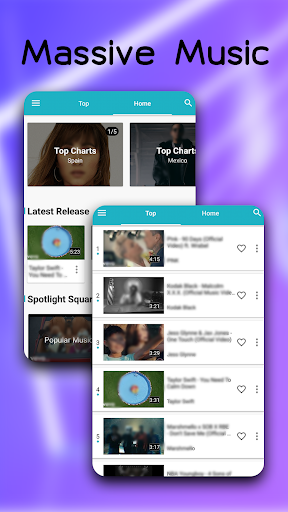 Blue Music - Enjoy Your Music World 4.0.0 screenshots 4