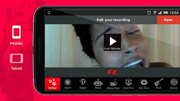 Screenshot of Red Karaoke Sing & Record