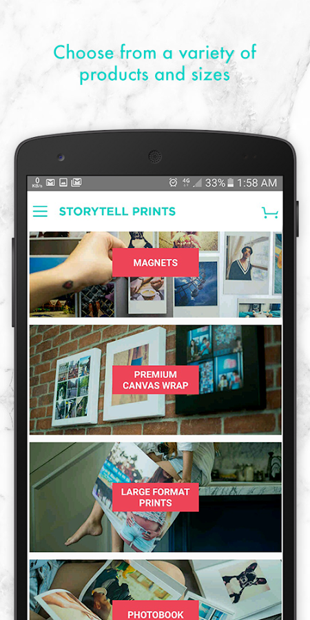 StoryTell Prints- screenshot