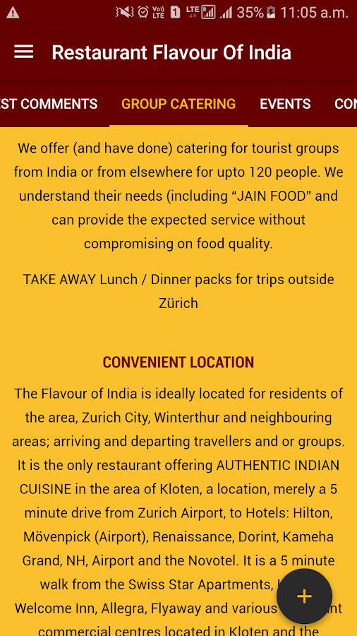Restaurant Flavour of India- screenshot