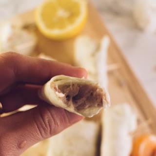 White Cabbage Ricotta And Tuna Wraps.