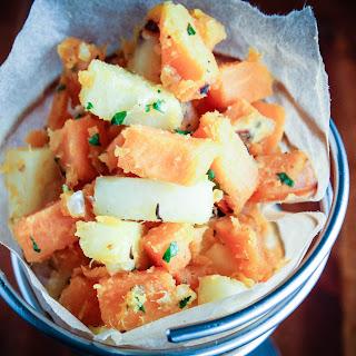 White and Sweet Potato Hash