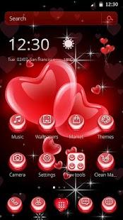 Maroon heart Love Balloons Theme - náhled